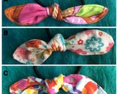 Set of Three Hair Bows Ponytail Holders