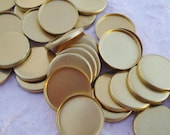 Brass 12mm Low Wall Closed Back Settings for Flat Back Cabs (12 pieces)