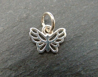 Sterling Silver Butterfly Charm 10mm (CG6313)