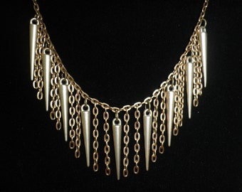 Spike Necklace Brass Jewelry