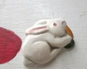 BUNNY BROOCH VINTAGE Spring Rabbit Woodland
