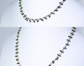 Black Spinel Cluster Chain Necklaces CH-N-103-Spin