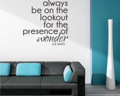 Presence of Wonder Wall Decal Quote E.B. White - Vinyl Wall Words