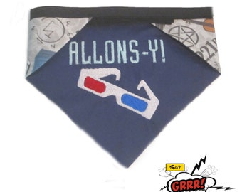 Allons-y  reversible Doctor Who pet bandana