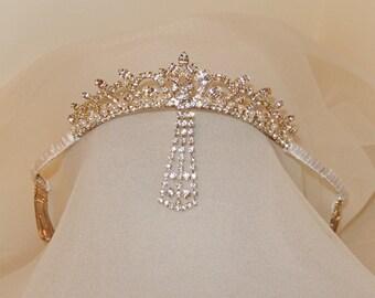 The Windsor-Vintage Couture Rhinestone Headpiece-CRBoggs Designs OOAK