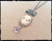 Purple Dreams  Cameo Necklace