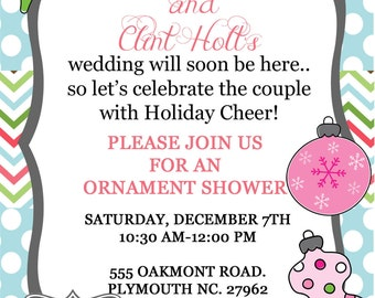 Printable PDF File- Ornament Shower Invitation- Christmas- 5x7