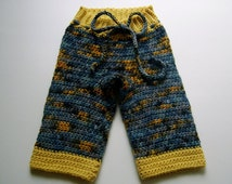 PDF Download, Crocheted Baby Diaper Cover, Soaker and Longies Pattern