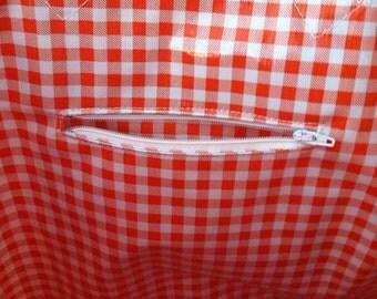 Interior Zipper Pocket for Beth's Oilcloth Tote Bag