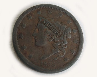 1838 Liberty Head Large Cent