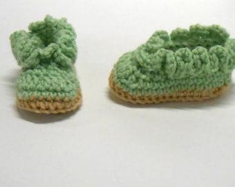 Baby Shoes Ruffled Crochet Booties