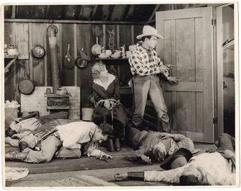 Vintage Glossy Photo, Silent Film Star Eddie Polo, Movie Still