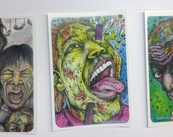 Zombie Sticker Pack Set of 5