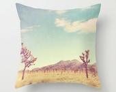 pillow cover, decorative throw pillow, Joshua Tree pillow case, desert, Palm Springs pillow, blue yellow, southwest decor, accent pillow, CA