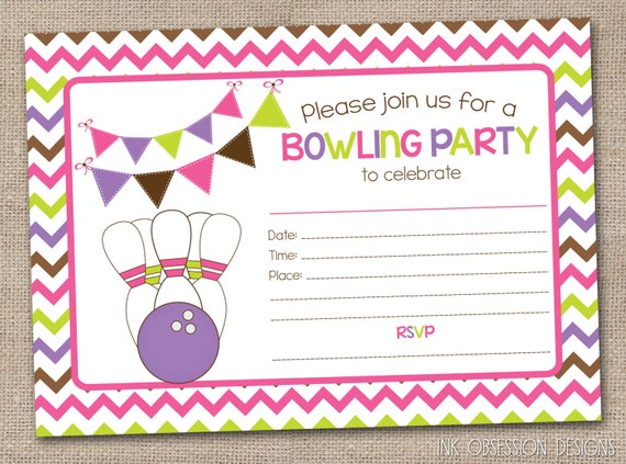 Canny image in printable party invite
