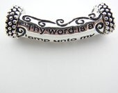 Curved Tube Bead with Message- Thy Word is a Lamp Unto My Feet