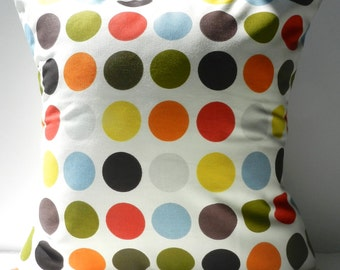 New 18x18 inch Designer Handmade Pillow Cases in multi colour dots