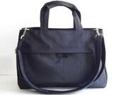 Sale - Water-Resistant Bag in Black- messenger bag, tote, purse, everyday bag, handbag - ANNIE