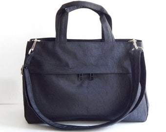 Sale - Water-Resistant Bag in Black- messenger bag, tote, handbag, cross body bag, purse, everyday bag, handbag - ANNIE