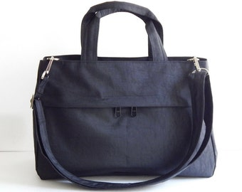 Sale - Water-Resistant Bag in Black- messenger bag, tote, purse, everyday bag, handbag - ANNIE