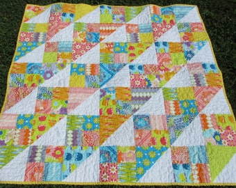 Dreamin' Vintage Baby Girl or Toddler Quilt - Jeni Baker for Art Gallery