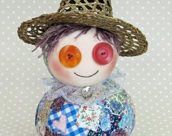 Flo Flowers Podgy Patchwork Art Doll