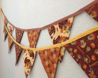 Fall/Thanksgiving pennant banner