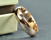 Rose Gold 5x1.5mm Half Round Ring, 14K Smooth Polished Wedding Band, Eco Friendly, Sea Babe Jewelry