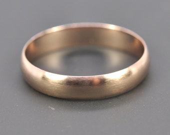 Rose Gold Ring, 14K Rose Gold 4x1mm Half Round Ring, Matte Brushed Finish, Unisex Wedding Band, sizes 8.25-10 this listing, Sea Babe Jewelry
