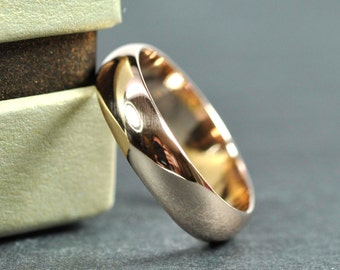 Rose Gold Ring, Rose Gold 5x1.5mm Half Round Ring, 14K Smooth Polished Wedding Band, Eco Friendly, Sea Babe Jewelry