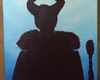 Maleficent silhouette Sleeping Beauty