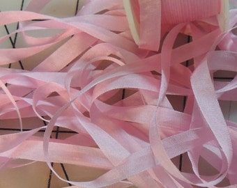 RibbonSmyth Prom Pink Color #550 7mm silk ribbon 5 yards
