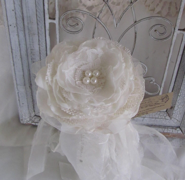 Flower Girl Wands Flower Girl Accessory Burlap Flower Girl