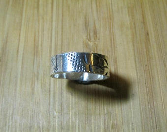 Sterling Silver Textured Stackable Ring size 6 3/4
