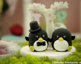 Penguins wedding  cake topper (K433)