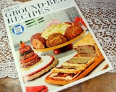 Ground Beef Recipes, Cookbook, Family Circle Magazine Publication, Cooking, Cook Book, 1966  (767-13)