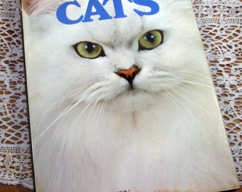 Cats, Vintage Book From Color Nature Library, Cat Reference Book, 1978, Peggy Wratten  (427-14)
