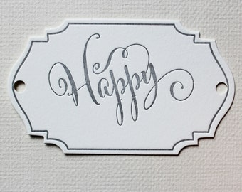 Letterpress Gift Tag