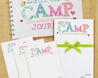 Stationery Set with Notepad, Cards and Journal - Camp Girl