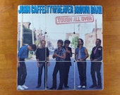 JOHN CAFFERTY & the Beaver Brown Band recycled Tough All Over album coaster set
