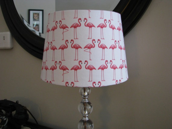 lamp shade beach decor flamingo dance. Black Bedroom Furniture Sets. Home Design Ideas