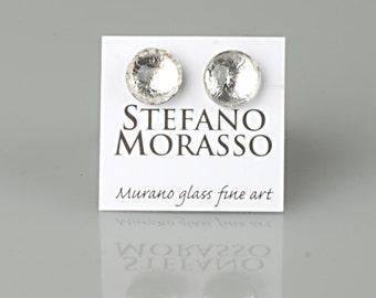 Murano glass earrings        diam mm 8