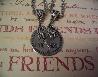 Best Friends Love Necklace Set for Mother Daughter Sister or Friends Gift
