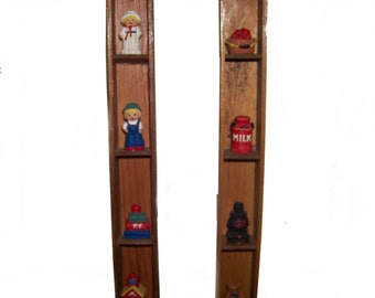 Vintage Amish Wood  cast iron Folk Art  country Kitchen primitive 3D Wall Hanging