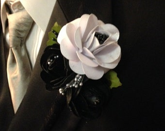 Wedding corsage for men, wedding boutonniere, lap pin corsage,