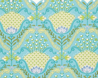 Little Azalea Collection by Dena Designs - Hyacinth in Aqua