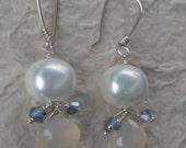 Moonstone Teardrop & Pearls