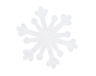 Snowflakes Fusible Fabric Appliques Cotton Quilting Sewing Collage Die Cut