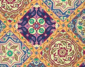 Snow Leopard - Iznik Isfahan in Amethyst 100% Quilters Cotton Available in Yards, Half Yards and Fat Quarters