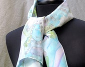 Silver Pastel Hand Painted Silk Poncho Price Reduced (was 195)